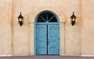 church door exterior lights